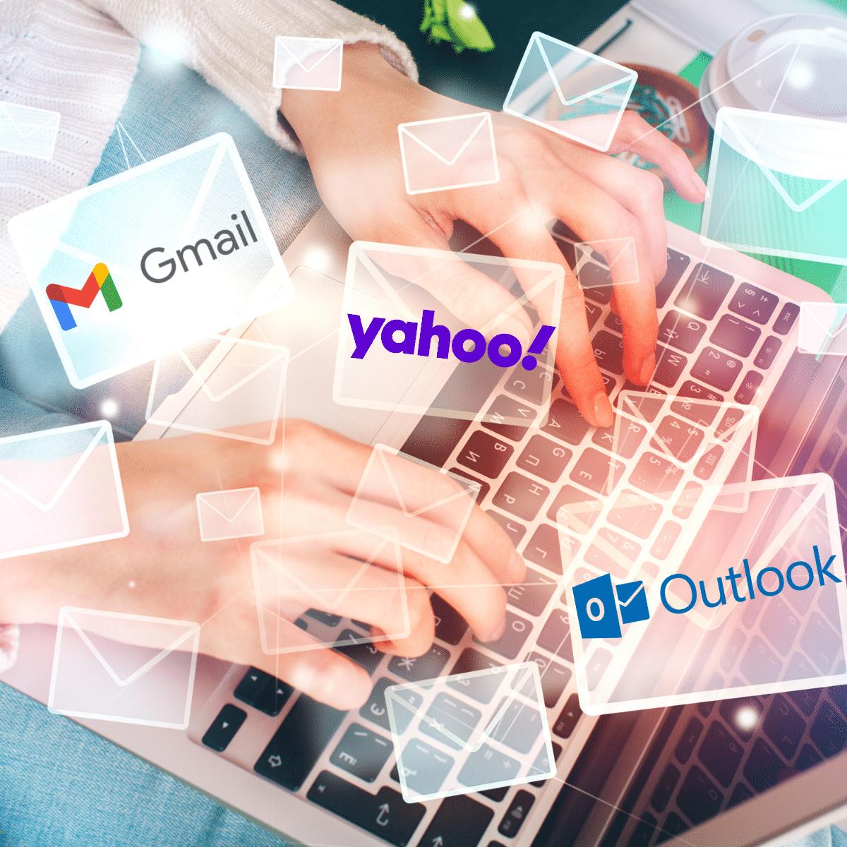 Imagen con los logos de los correos que enseñamos a crear